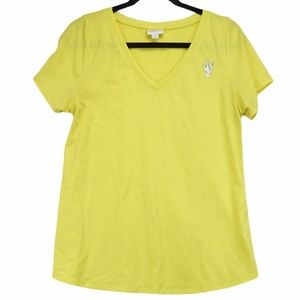 Lularoe Christy Bright Yellow V neck T Shirt